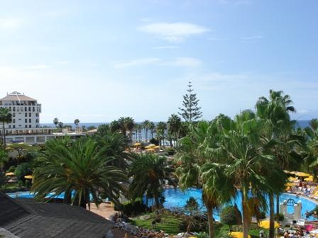Udsigt fra hotellet Las Palmeras
